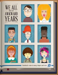 Microsoft Infographic Design - We All Have Our Awkward Years