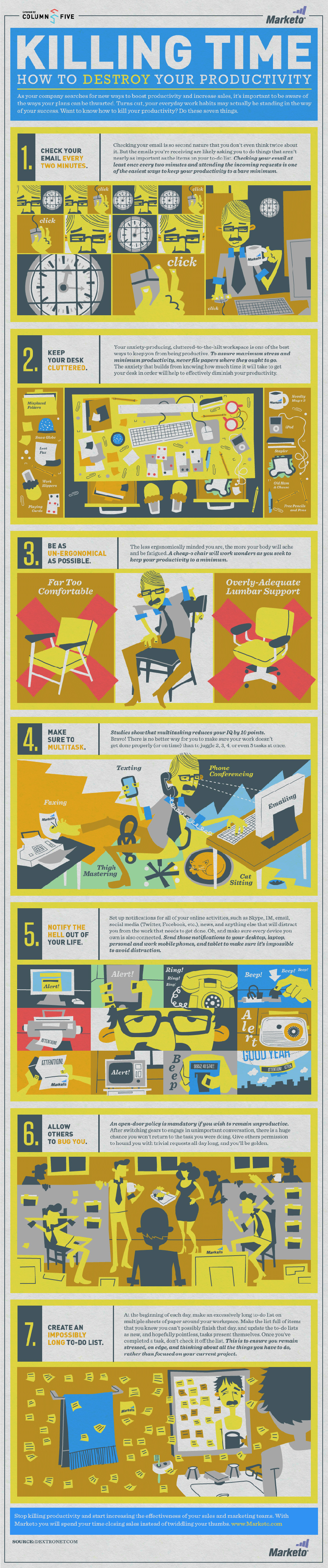 Infographic: Killing Time: How to Destroy Your Productivity