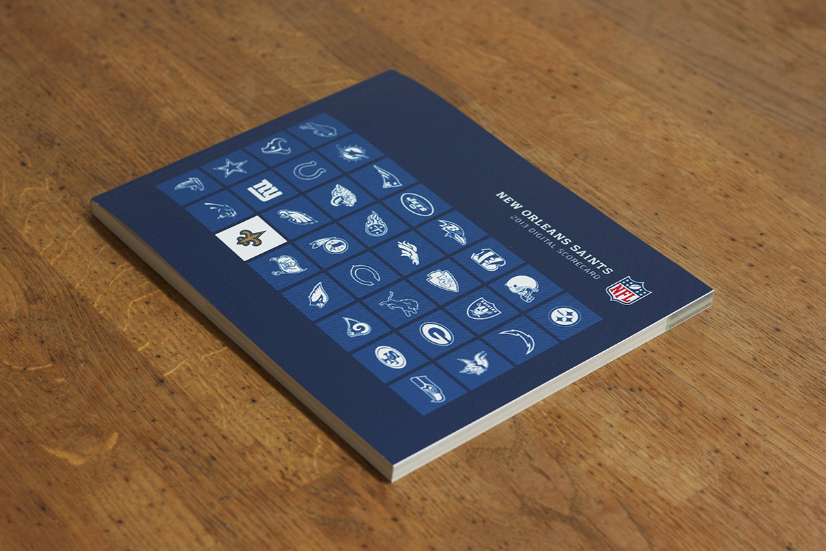 Presentation Design: NFL Team Website Performance Booklet