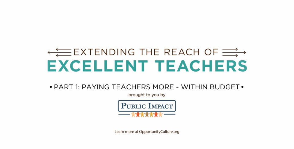 Paying Teachers More – Within Budget