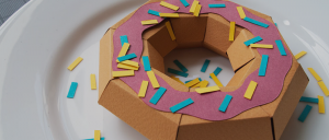 How to make a papercraft donut