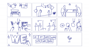 About Us Video Storyboard