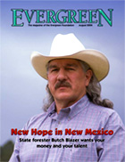 Cover of August 2004 Issue of Evergreen Magazine