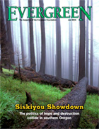 Cover of July 2004 Issue of Evergreen Magazine