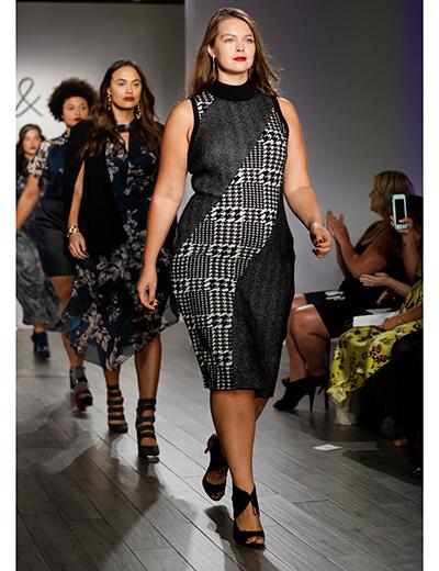 plus size fashion runway