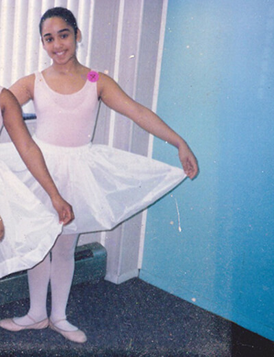 plus size dancer jessie diaz as a young girl in ballet