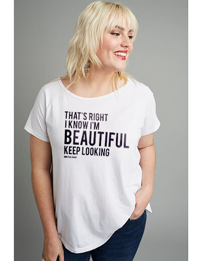 #TeeUpChange Christian Siriano That's right I know I'm beautiful keep looking t-shirt