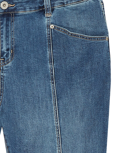 front seam on plus size jeans