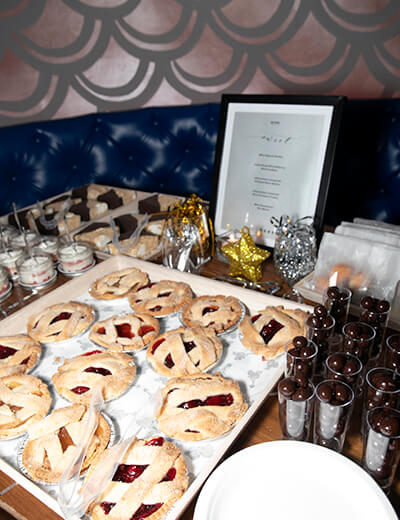 sweet treats featured at the rebel wilson x angels collection launch