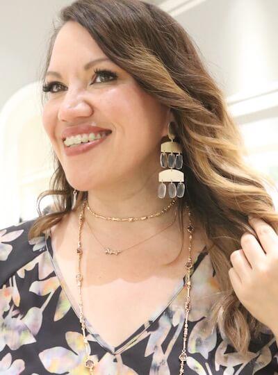 Blogger Angela Cruz flaunting her jewelry