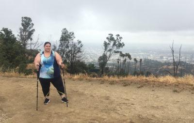 Celeste hiking in Los Angeles