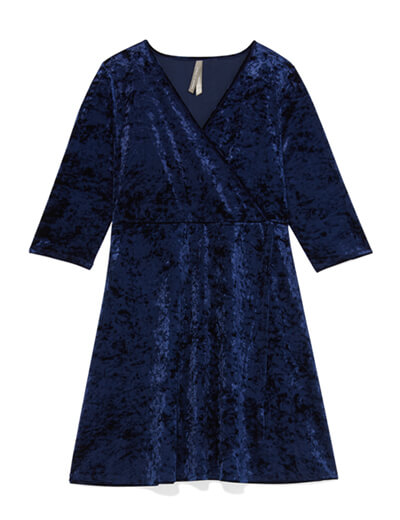 Velvet holiday wrap dress.