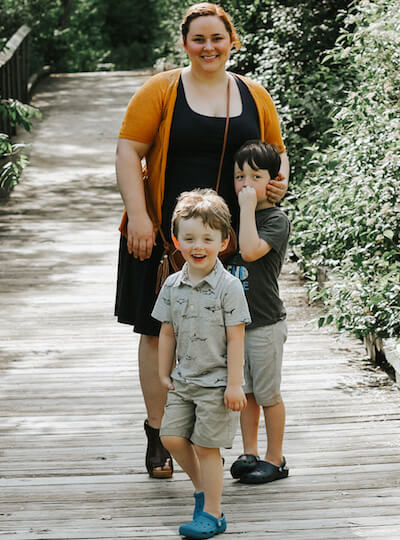 Kendall Rayburn and her sons.