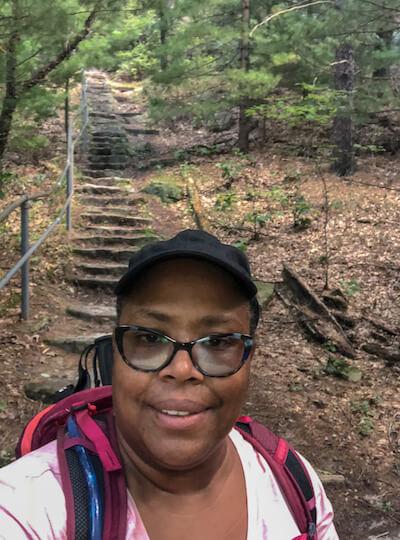 Bisa's selfie while hiking
