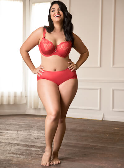 7aa09dd79e7 plus size lingerie by CurvyCouture red bra and panties set
