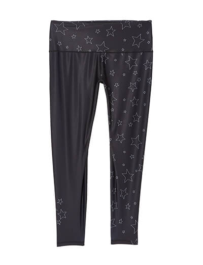 plus size star printed leggings