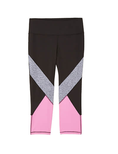 plus size color blocked leggings