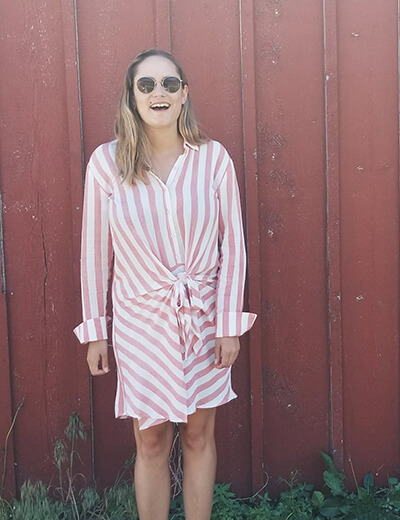 resolutions brogan striped dress