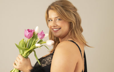 Valentine's Day lingerie and tulips