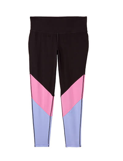 plus size leggings that feature color-blocking