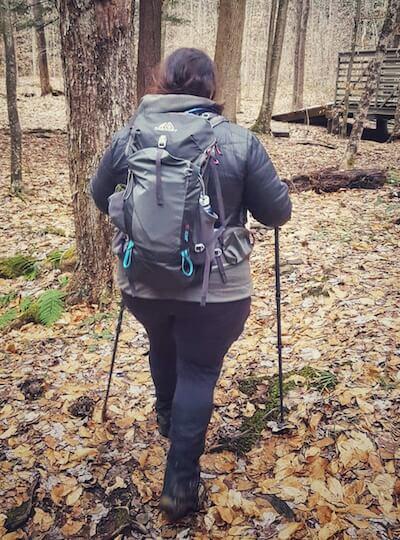 Andrea DiMaio on a hike.