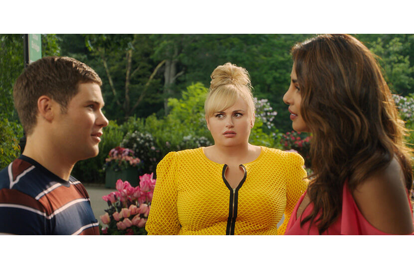 adam devine rebel wilson priyanka chopra isn't it romantic scene