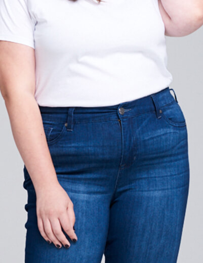 plus-size denim fit issues fits in hips and waist