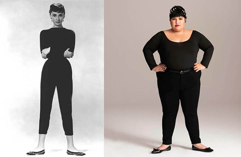 we are all icons plus-size audrey hepburn denim