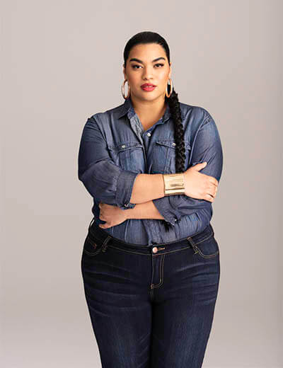 plus-size denim we are all icons sade