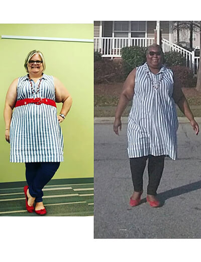 what i see in her two women plus-size striped dress