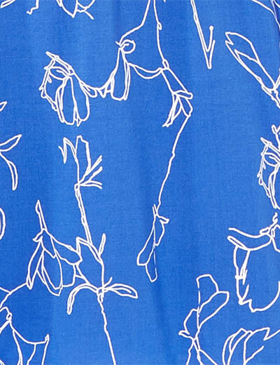prints swatch blue with white flowers