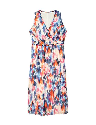 prints plus size multicolored maxi dress