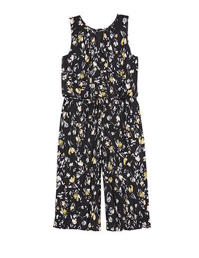 plus size floral jumpsuit