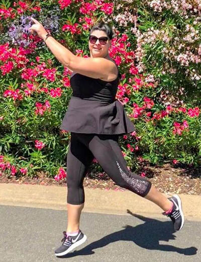 plus-size outfit photos activewear flowers
