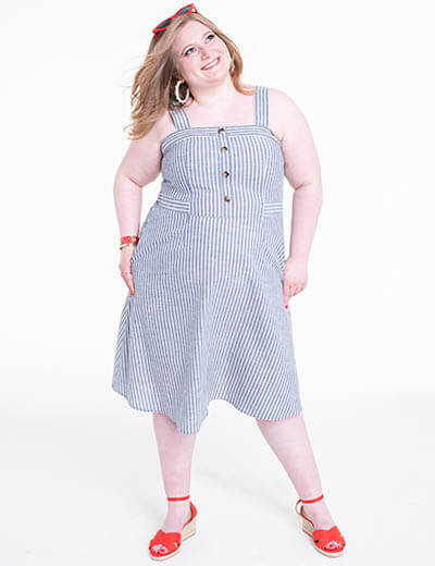 plus size striped dress emily deroo
