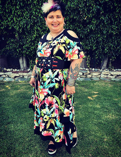 plus-size florals erin m floral maxi dress black belt