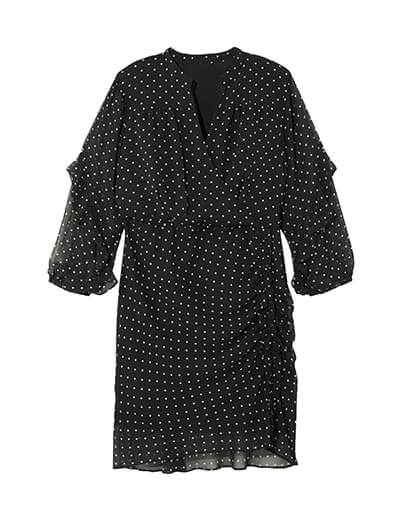 plus size polka dot polished dress spring