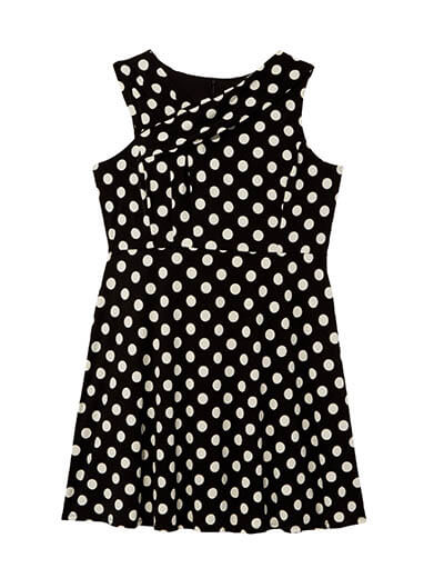 plus size polka dot dress spring