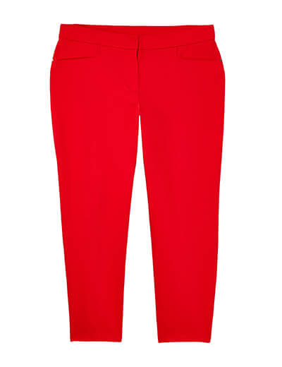 plus size red ankle pants spring