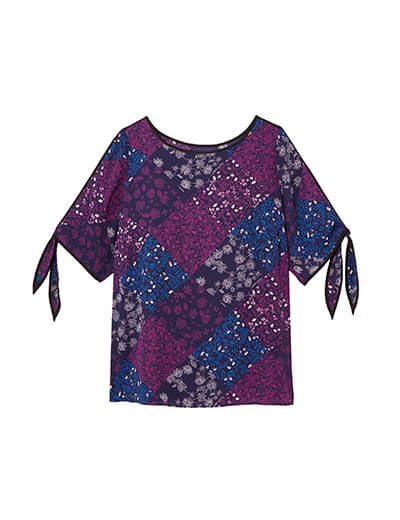 plus size patchwork top spring