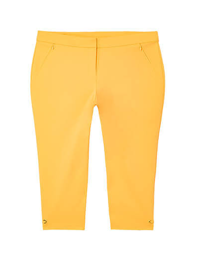 plus size yellow capris spring