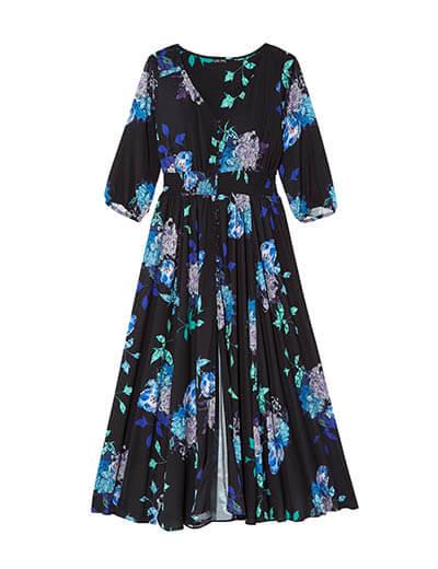 Plus-size floral maxi dress