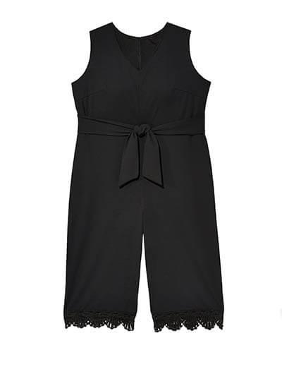 Plus size black jumpsuit
