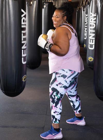 Terri Smith kickboxing.