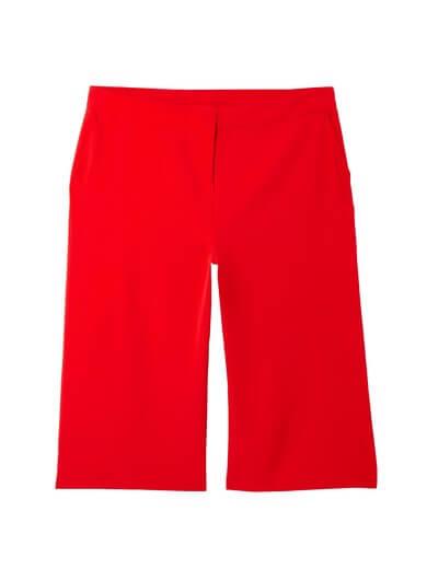 red plus size capri pants