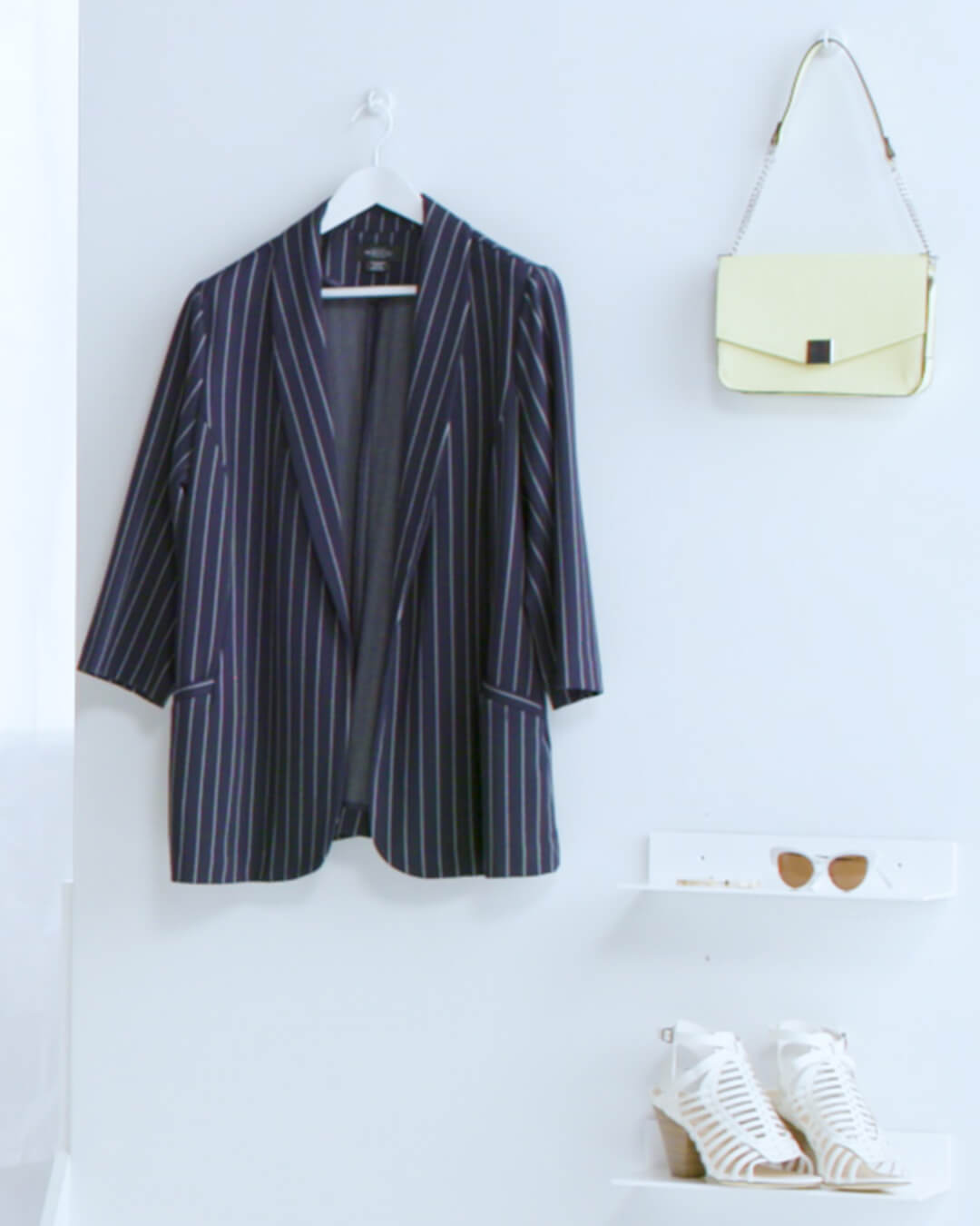 plus-size blazer pinstripe