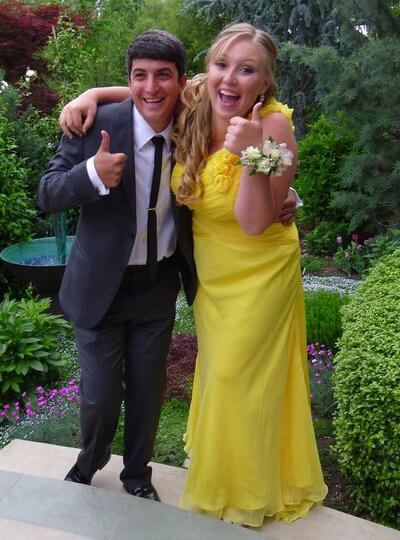 plus size prom dress yellow gown