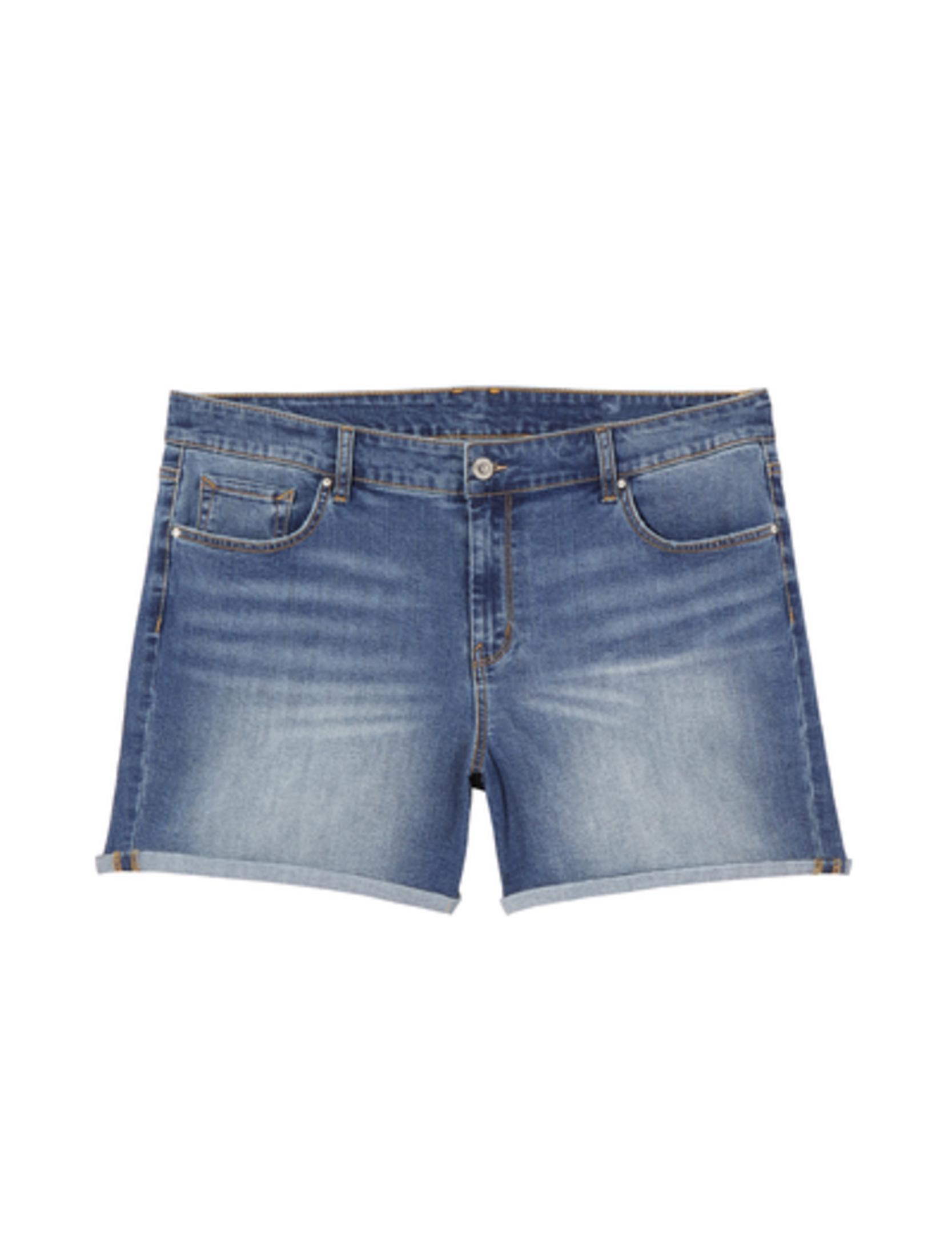 plus size shorts rolled up denim shorts