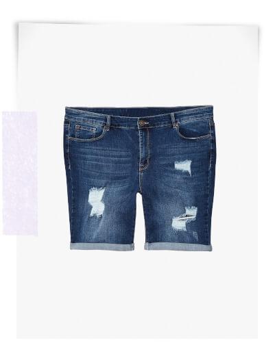 plus size shorts denim distressed