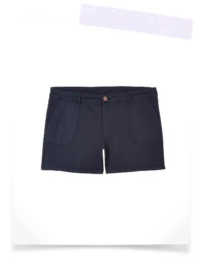 plus size navy shorts